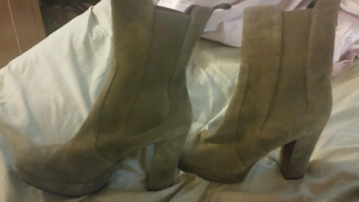 Nine West platform ankle boots leather brown  Christina  7.5M