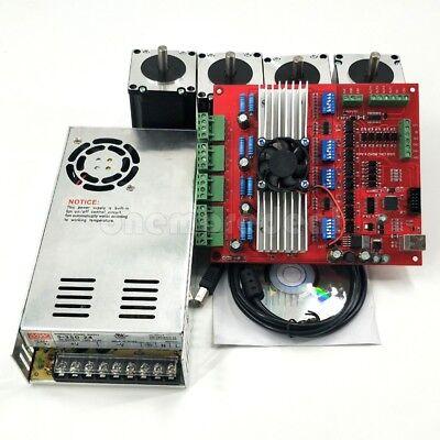 4x Nema23 Stepper Motor 57 w// Power dl4 4-Axis TB6560 Stepper Motor Controller