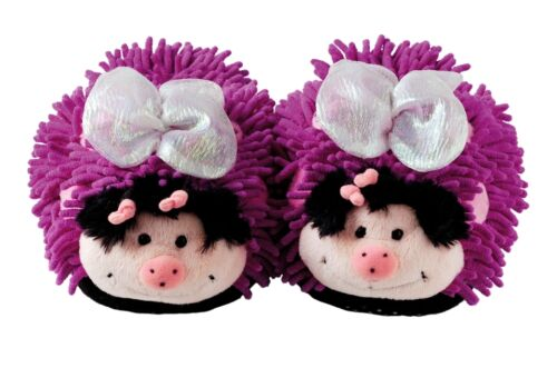 Aroma Home Fuzzy Feet Friends Butterfly Novelty Children/'s Slippers Kids UK 9-1