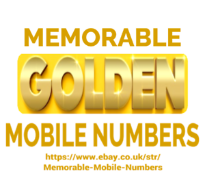 EASY MEMORABLE GOLD MOBILE PHONE NUMBER PAY AS YOU GO SIM ...