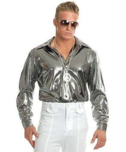 Disco Shirt Retro 70S Metallic Studio 54 Mens Halloween Costume