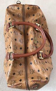 Details zu MCM Tasche Original Vintage Bowling Heritage Bag Ohne Tragegurt Braun Cognac