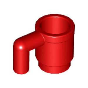 1 X Taza utensilio en rojo Genuine Lego Repuestos número de parte 389921