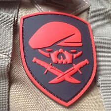 RED SPECIAL FORCES SKULL MEDAL OF HONOR MOH RANGER 75th REGIMENT PVC PATCH