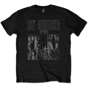 Peaky-Blinders-T-Shirt-By-Order-Of-Mens-Womens-Unisex-Cotton-Black-T-Shirt