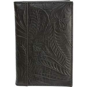 Details about Black Genuine Leather Embossed US PASSPORT COVER Organizer  New  FREE SHIPPING