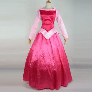 deluxe prinzessin aurora cosplay kleid kost m erwachsene dornr schen kost m rosa ebay. Black Bedroom Furniture Sets. Home Design Ideas