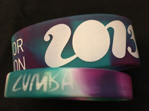 Wristbands Zumba Fitness 2 Rubber Bracelets From Instructor Convention 2013 Orlando
