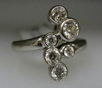14K WHITE GOLD DIAMOND LADIES RING SIZE 6.5