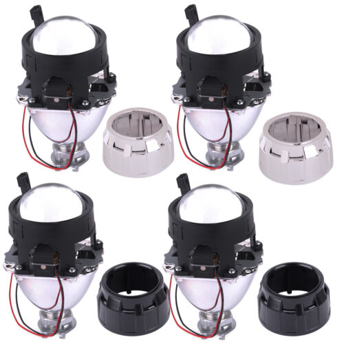 2.5/'/' H1 Car HID Low High Beams Bi-xenon Projector Halo Lens /&Headlight Shroud