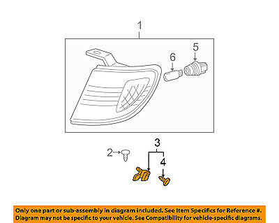 Genuine Toyota Park//Marker Lamp Retainer 53137-04010