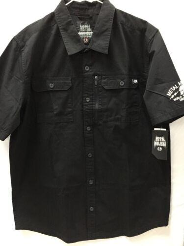 "Metal Mulisha Men/'s Button UP Shirt /""Ratchet S//S Woven/"" BLK"