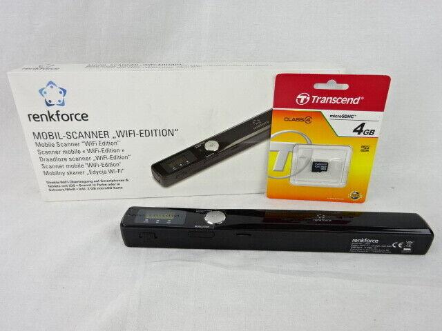 Renkforce W4S Wireless Edition Mobiler Dokumentenscanner A4 300 x 900 DPI USB microSD microSDHC WLAN 802.11 b//g//n