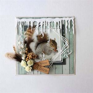 Stanzschablone-Eiszapfen-Winter-Schnee-Weihnachts-Hochzeit-Geburtstag-Karte-DIY
