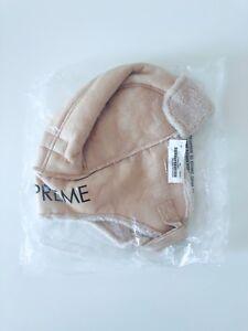3e22e538 Supreme Faux Shearling Trooper Hat Tan One Size Brand New in Plastic ...