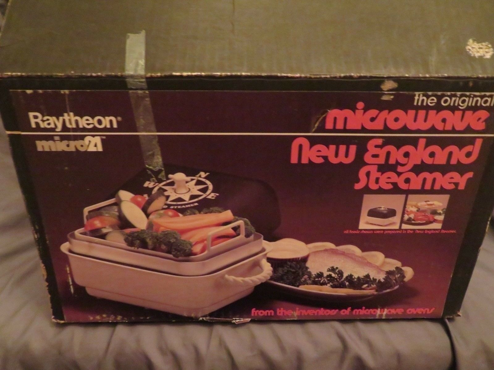 NEW The Original Microwave New England Steamer Vegetable Seafood Cooker Micro21