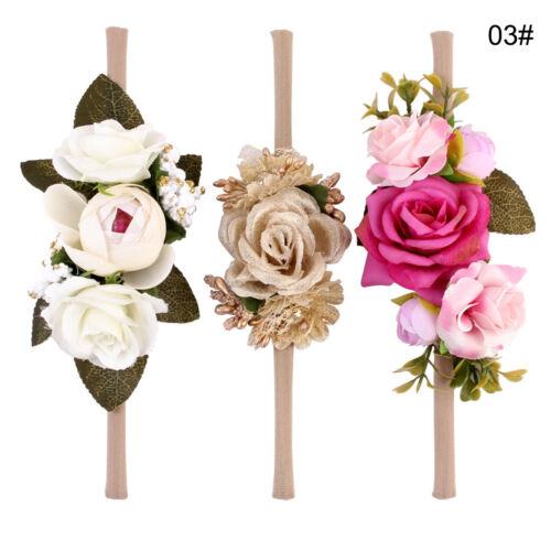3Pcs Kids  Baby Girls Flowers Garland Wreath Headband Photo Props Headwear