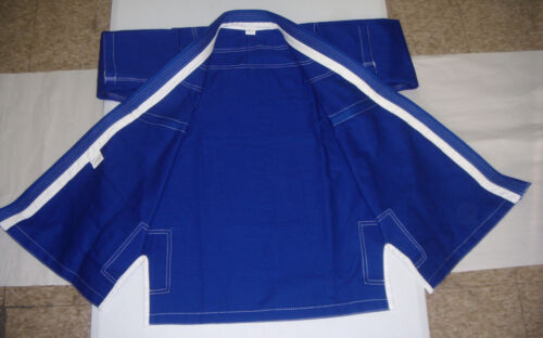 BLUE//WHITE 100/% Cotton Preshrunk Free Gi Belt Brazilian Jiu Jitsu Gi for Mens