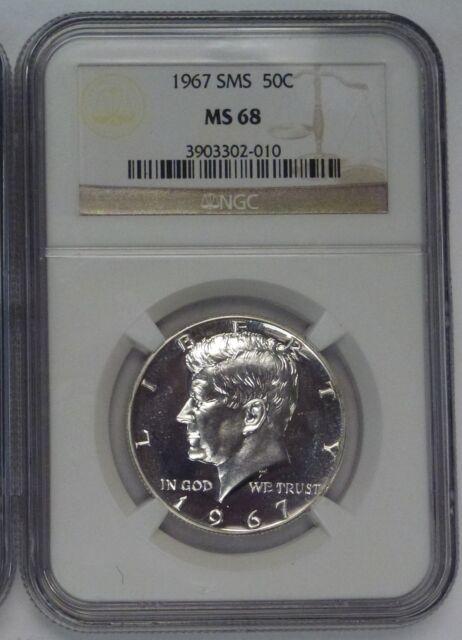 1967 Kennedy Half Dollar SMS 50c NGC MS68