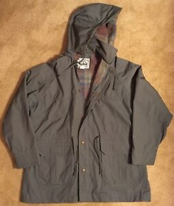Woolrich-Wool-Lined-Parka-Jacket-Barn-Coat-Women-039-s-Sz-L-Green-hooded-VTG-USA-EUC