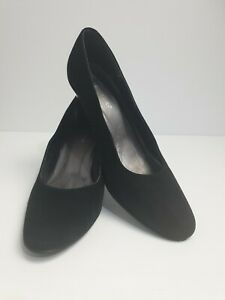Sandler-Women-039-s-Black-Suede-Court-Shoes-Heels-Size-9-B