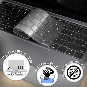 super popular f5803 3e2f6 Details about Thin Keyboard Cover Skin for Macbook Air Pro 13 15 Touch Bar  2018-2017-2016-2015