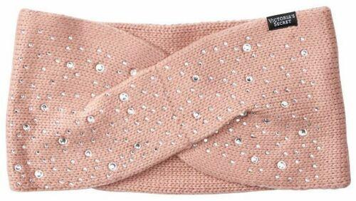 Victoria/'s Secret Winter Angel Sparkle Ear Warmer Headband in Luxe Gem Pink NWT