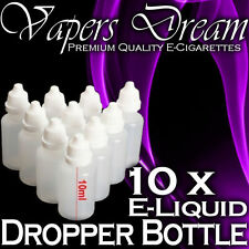 10x Empty Dropper Bottles 10ml - Easy Squeeze LDPE *Vapers Dream*