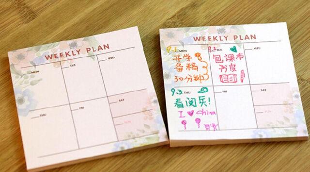 Mini Home Office Weekly Journal Schedule Planner Memo Note Pad Work Note Paper