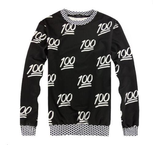 Men/'s //Women/'s Emoji 100 3D Print Sweatshirt Hoodies Jogging pants Sport Suit
