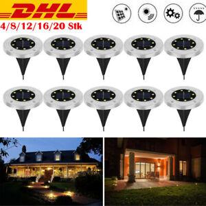 LED Solarleuchte 10 LED Bodenstrahler Garten Leuchte Solarlampe Bodenbeleuchtung