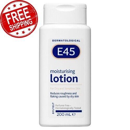 E45 Moisturising Lotion 200 Ml Long-Lasting Care Improves Dry & Sensitive Skin