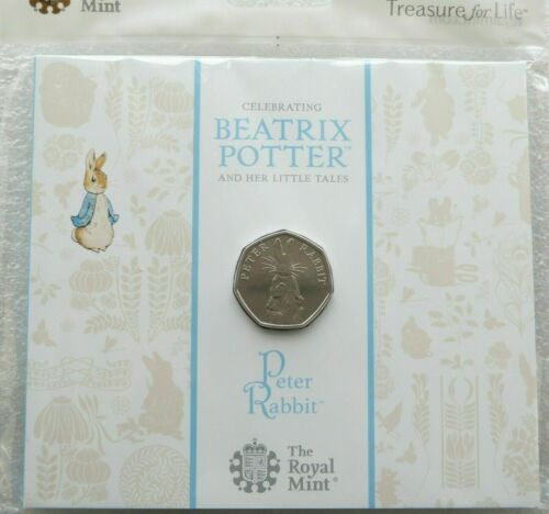 2019 Royal Mint Peter Rabbit 50p Fifty Pence Coin Pack Sealed Uncirculated