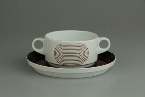 Tasse de soupe avec inférieure Rosenthal Joy 1 marron cercles