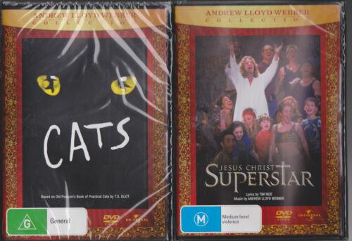 1 of 1 - 2 x DVD's Cats (DVD, 1999) & Jesus Christ Superstar DVD Andrew Lloyd Webber