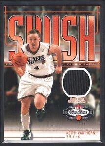 Details about KEITH VAN HORN 2002/03 FLEER BOX SCORE SWISH & DISH SIXERS  GAME JERSEY SP $15