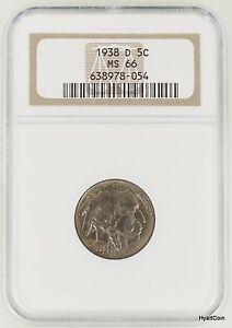 1938-D Buffalo Nickel 5C NGC MS66