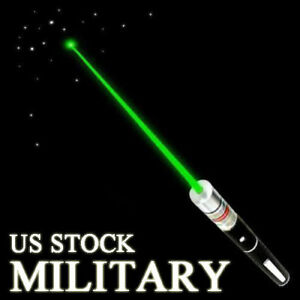 High Power Military 1mW 532nm Green Laser Pointer Pen Visible Beam Light Lazer