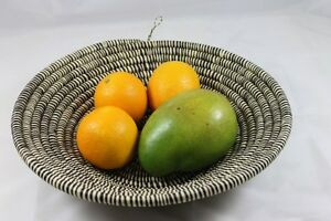 Fruit Bowl Organic Hand-Woven Art Deco Natural Vegetable Basket FREE POST