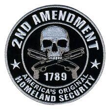 2nd Amendment Homeland Security Patch Iron On Sew On Gun Biker Military Tactical