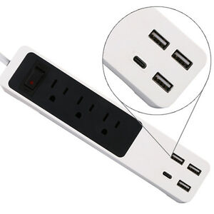 Wall-3-Outlet-Power-Center-Surge-Protector-with-3-USB-Charging-Ports-amp-1-Type-C