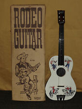 VINTAGE WESTERN COWBOY  USA TOY 1950S EMENEE RODEO  GUITAR IN BOX