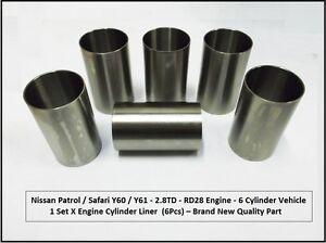 Fits-Nissan-Patrol-Y60-Y61-2-8TD-RD28-Engine-Cylinder-Liner-Set-STD-08-1988