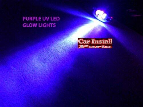 4-LED PURPLE UV Motorcycle /& Car Lights Neon FX CHROME