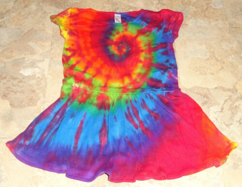 New Hippie Tie Dye Dyed Dress Baby Youth Girls 6M 12M 18M 24M 2T 3T 4T 5//6