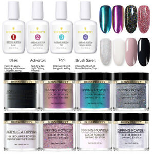 6Boxes-Set-BORN-PRETTY-15ml-Dip-Liquid-10ml-Dipping-Powder-Nail-Art-Starter-Kit
