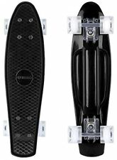 Enkeeo Plastic Cruiser Skateboard 22'' For Kids And Adults With Black Sturdy 4