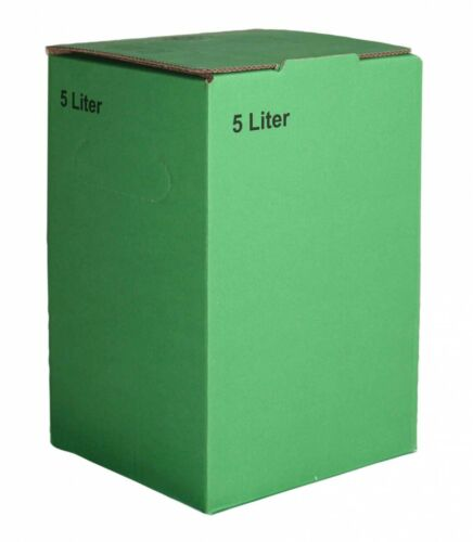 10Stück 5 Liter Bag in Box Karton in Grün 1,30€//1Stk