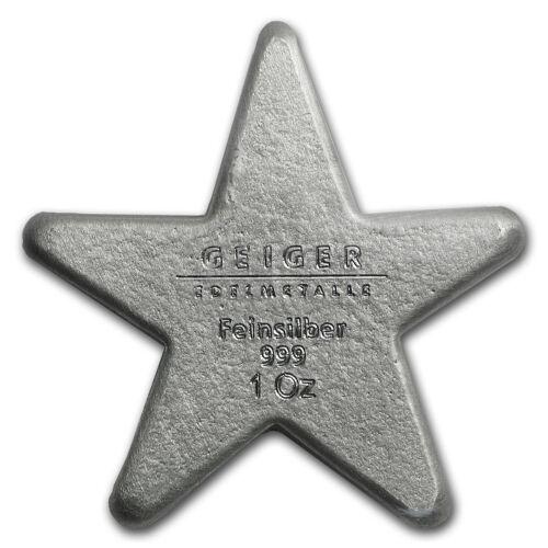 Geiger Edelmetalle SKU #95185 1 oz Silver Star Bar