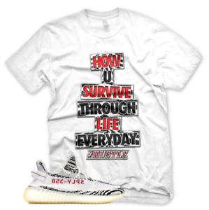 57f7087c2 New HUSTLE T Shirt for Adidas Yeezy 350 V2 Zebra Butter Beluga Mauve ...